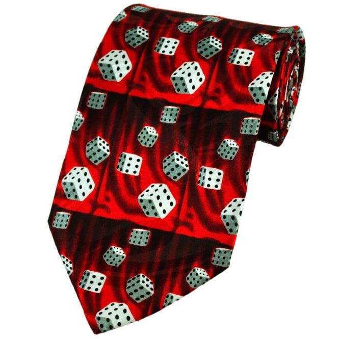 Lucky 6 Dice Novelty Tie