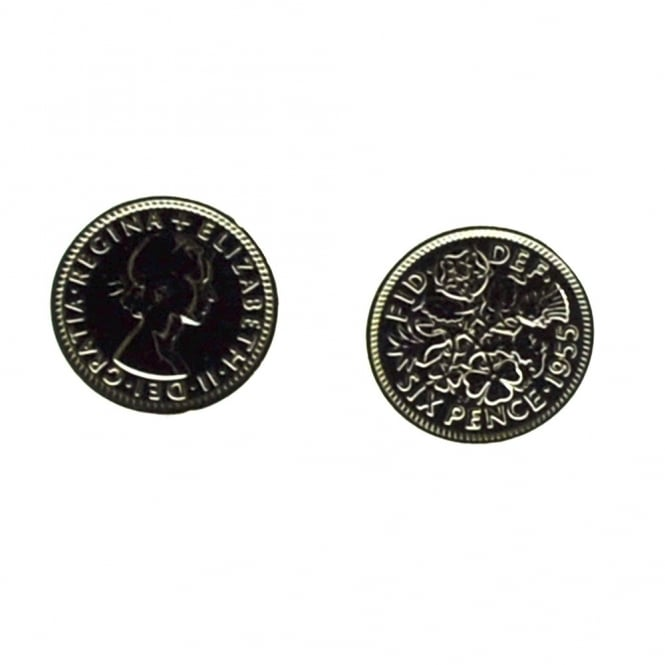 Lucky Sixpence Coin Cufflinks