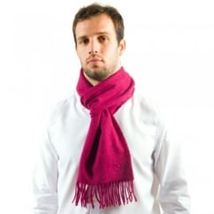 Lyle and Scott Bright Pink Lambswool Scarf