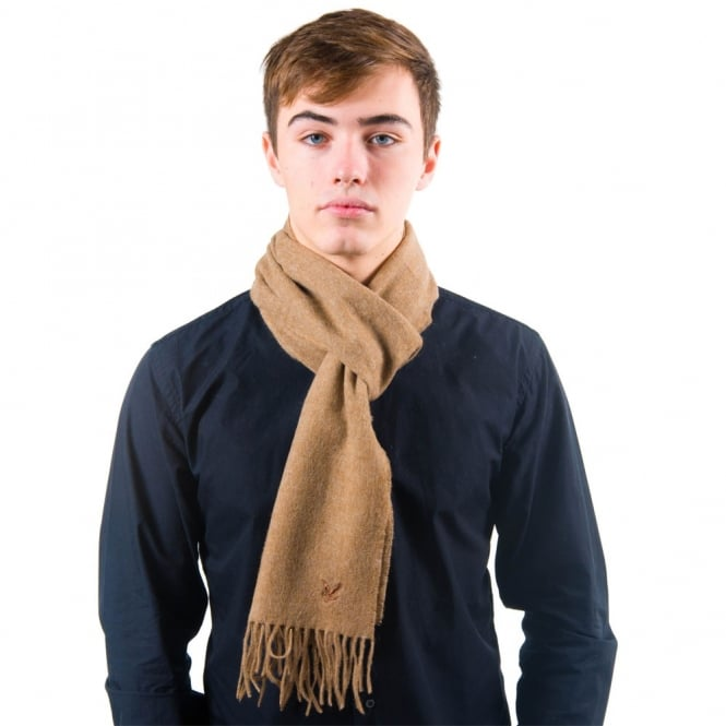 Lyle and Scott Camel Lambswool Scarf