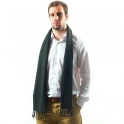 Lyle and Scott Dark Moss Green Lambswool Scarf