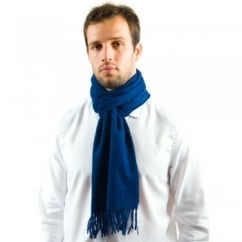 Lyle and Scott Mid Blue Lambswool Scarf