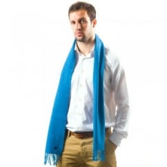 Lyle and Scott Ocean Blue Lambswool Scarf