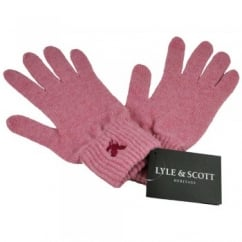Lyle and Scott Pink with Fuchsia Eagle Gloves