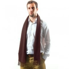 Lyle and Scott Plain Claret Lambswool Scarf