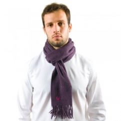 Lyle and Scott Purple Heather Lambswool Scarf