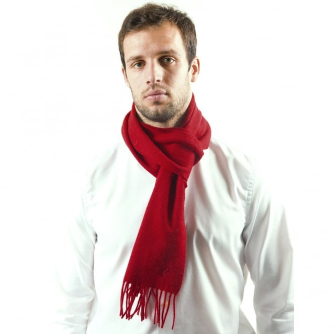 Lyle and Scott Scarlet Red Lambswool Scarf