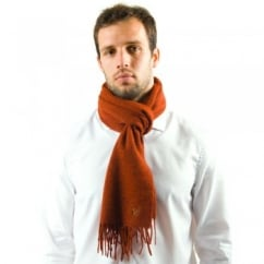 Lyle and Scott Terracotta Lambswool Scarf