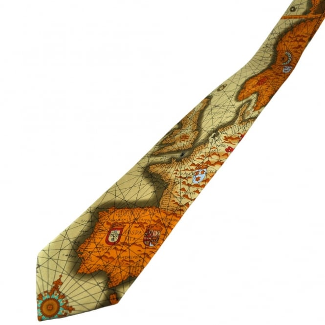 Map Of Europe Silk Novelty Tie