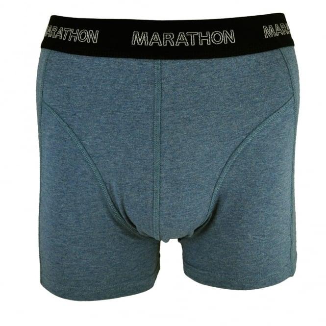 marathon men's trunks slate blue with black waistband