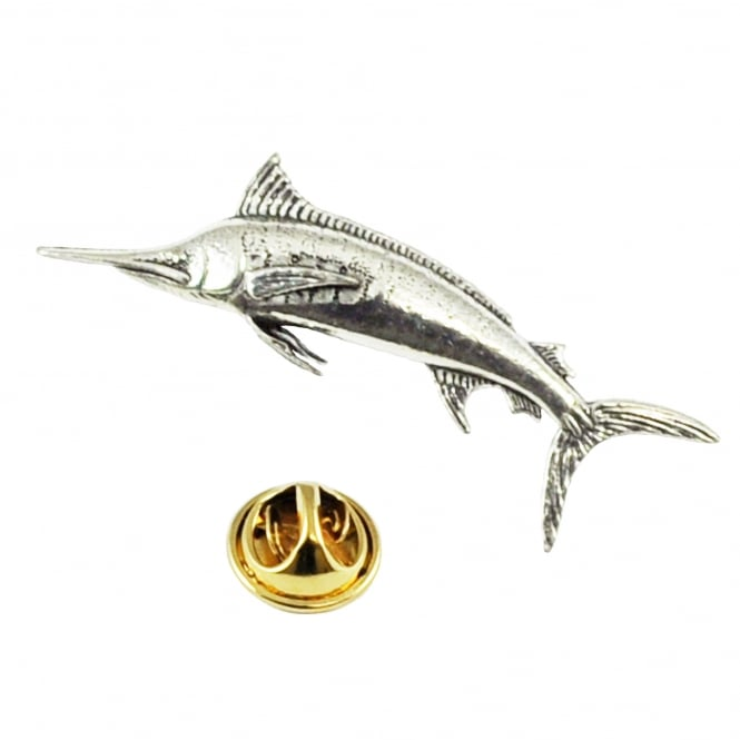 Marlin Pewter Lapel Pin Badge