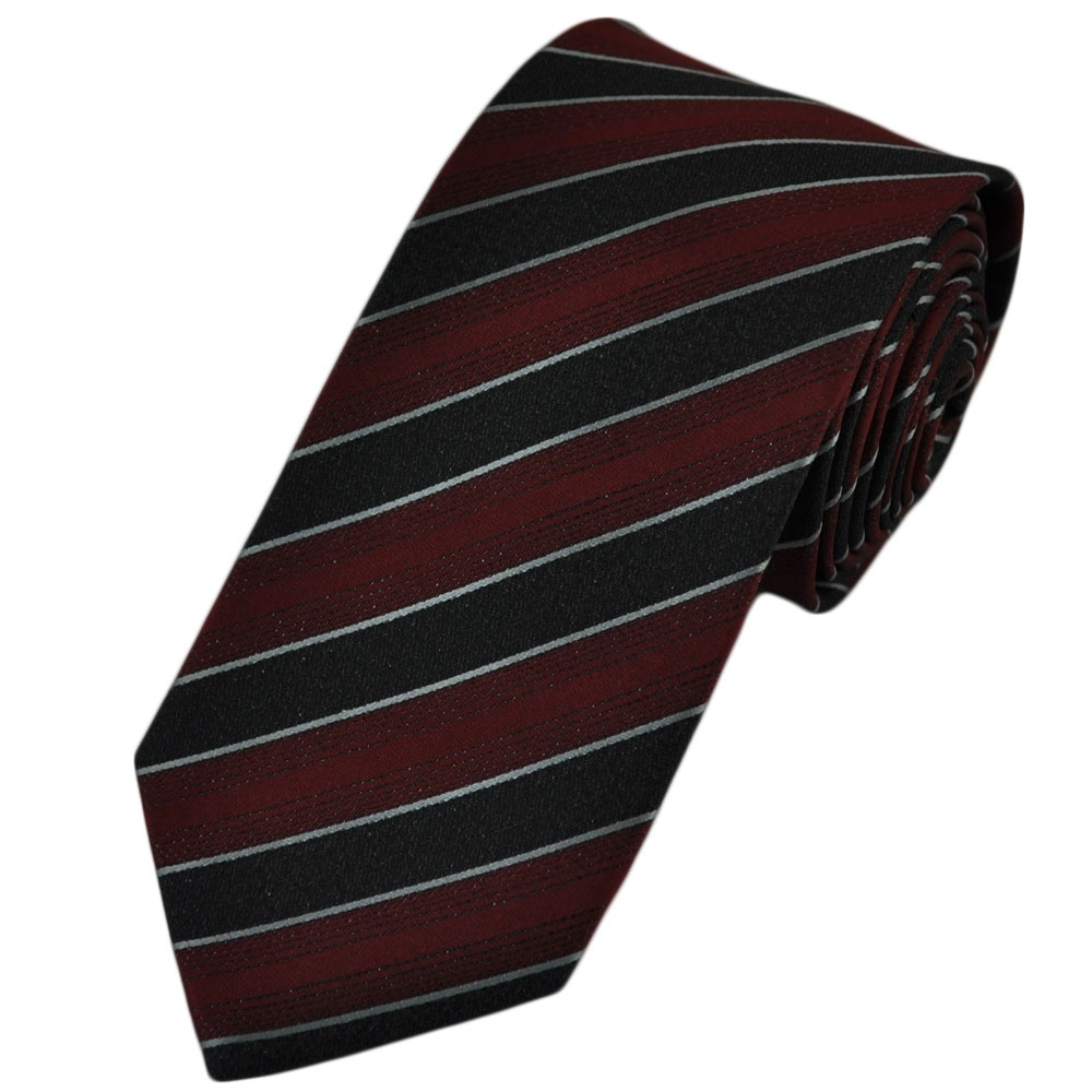 Our skinny ties in various shades of solid black and black prints. From to inches. Available in silk, microfiber, cotton, knit, fabrics. Free shipping and tie bar offers.