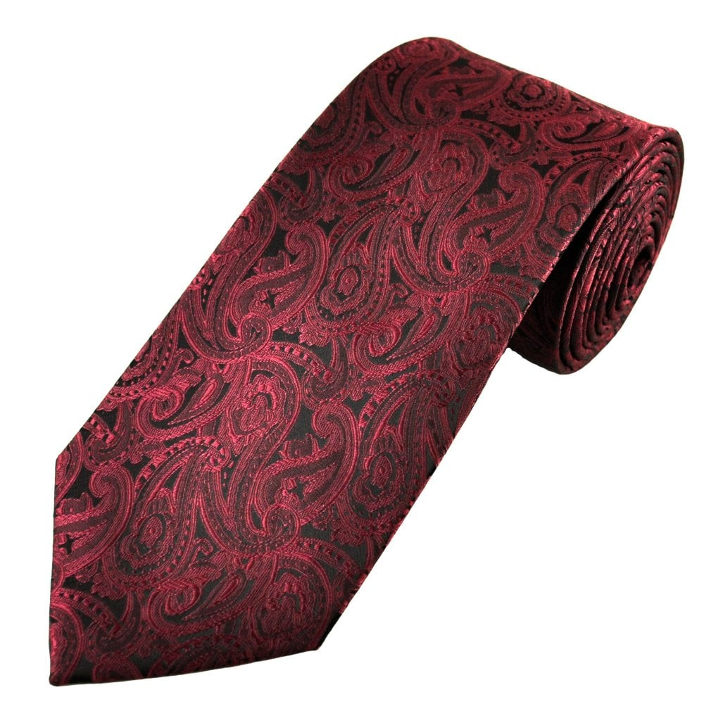 70c6b0aa38 Maroon Red Paisley Pattern Men's Tie from Ties Planet UK