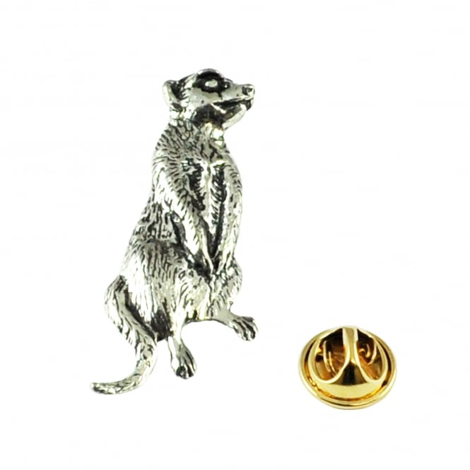 Meerkat English Pewter Lapel Pin Badge