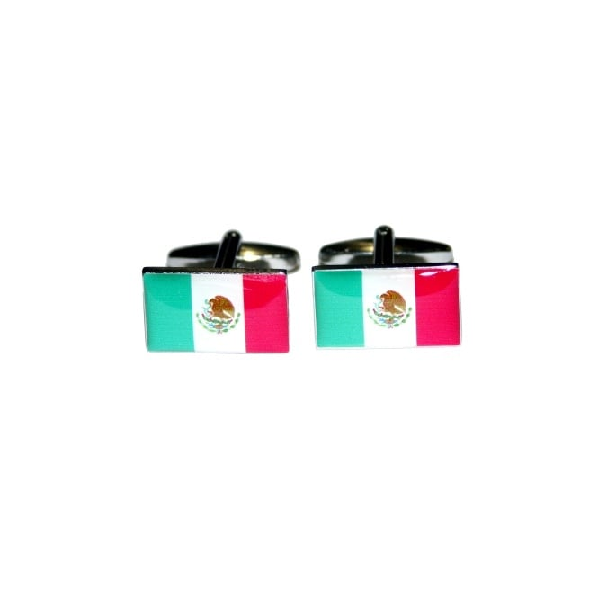 Mexico Flag Novelty Cufflinks