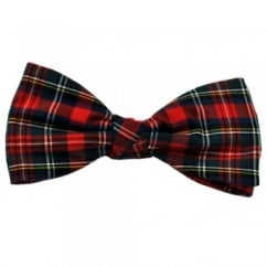 Modern Stewart Tartan Patterned Bow Tie by Van Buck
