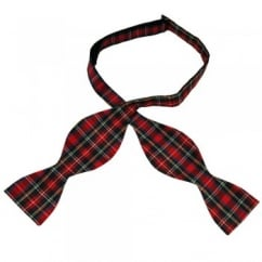 Modern Stewart Tartan Patterned Self Tie Bow Tie