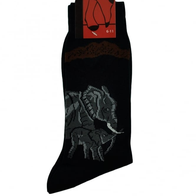 Mother & Baby Elephant Men's Novelty Socks