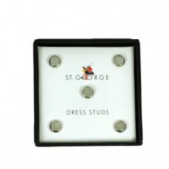 Mother of Pearl & Silver Shirt Dress Studs