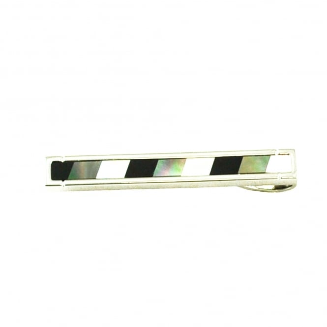 Mother Of Pearl Striped Tie Bar