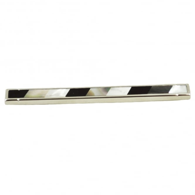 Mother Of Pearl Striped Tie Slide