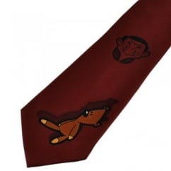 Mr Bean Brick Red Novelty Tie