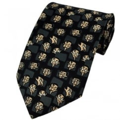Mr Bean Faces Black Novelty Tie