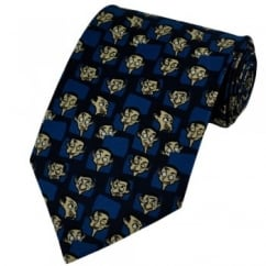 Mr Bean Faces Blue Novelty Tie