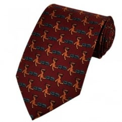 Mr Bean Teddy Bear Brick Red Novelty Tie