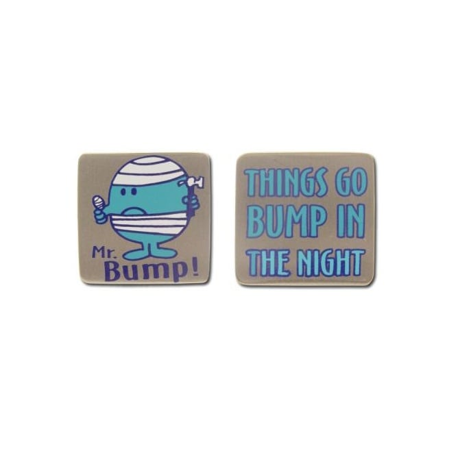 Mr Men Novelty Cufflinks - Mr Bump 'Things Go Bump In The Night'