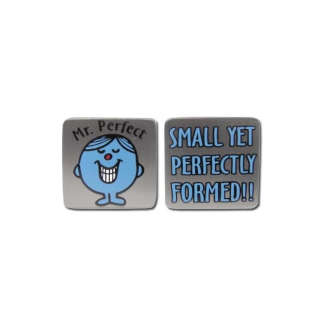 Mr Men Novelty Cufflinks - Mr Perfect 'Small Yet Perfectly Formed'