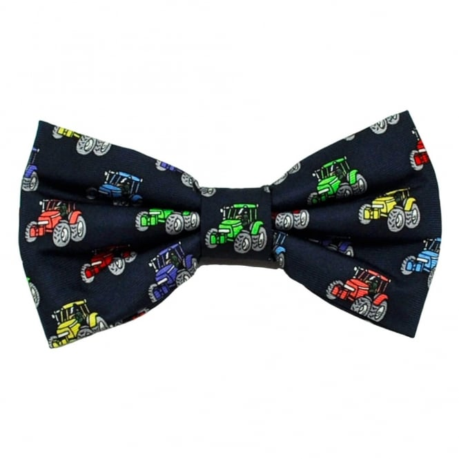 Multi Coloured Tractors Novelty Bow Tie