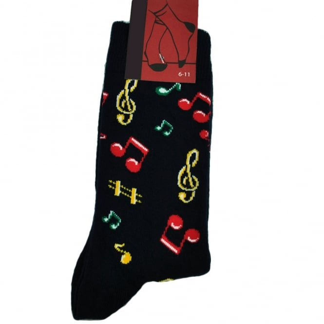 Music Notes Novelty Socks