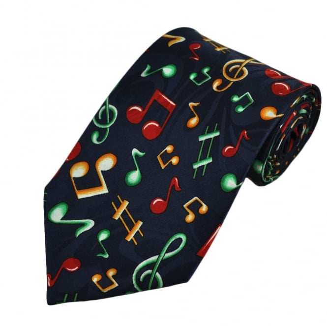 Music Notes Novelty Tie