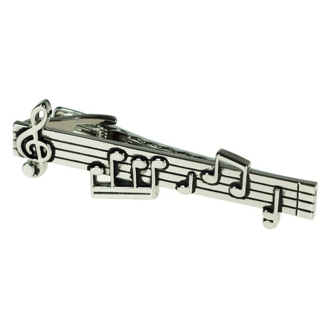 Music Notes Tie Bar