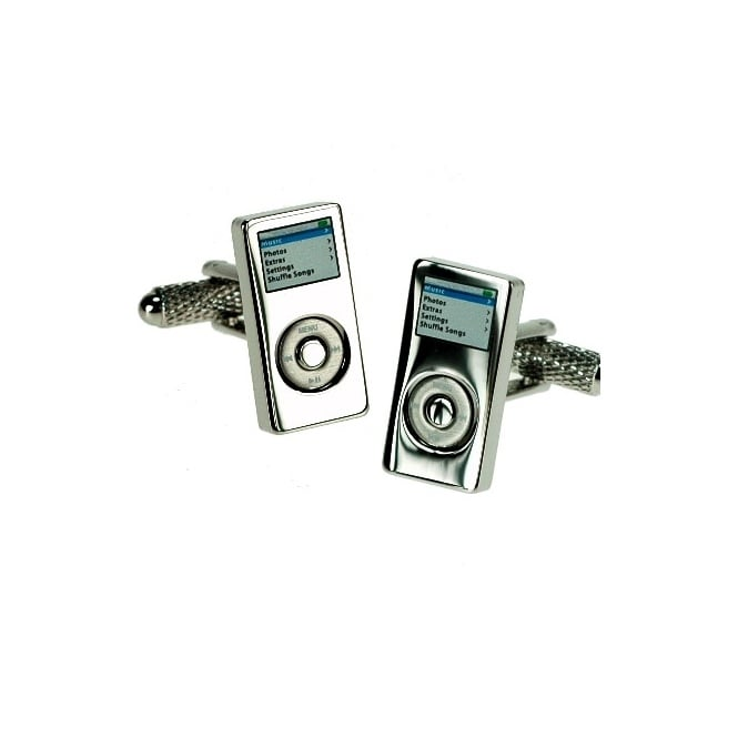 music player novelty cufflinks