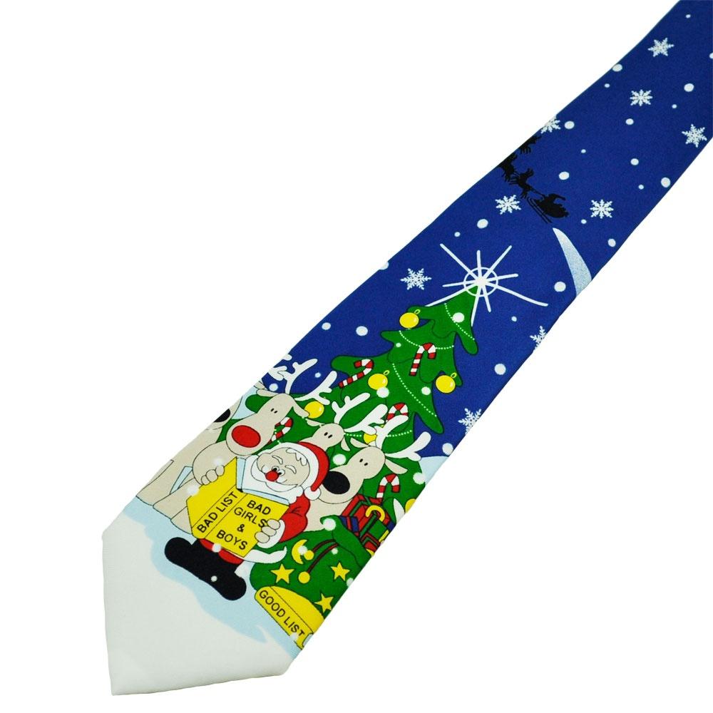Naughty & Nice Santa Claus Lists Blue Novelty Christmas ...