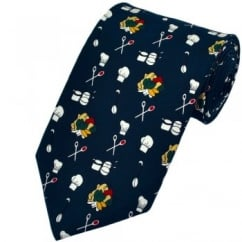 Navy Blue Chef Silk Novelty Tie