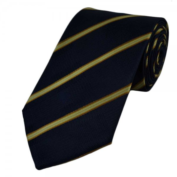 tie striped Gold white and