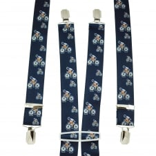 Navy Blue Cyclist Men's Trouser Braces