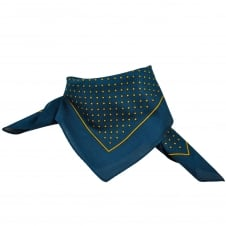 Navy Blue & Gold Polka Dot Bandana Neckerchief