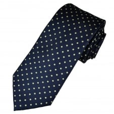 Navy Blue & Gold Polka Dot Men's Tie