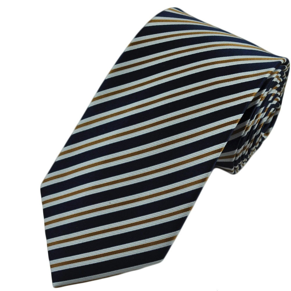 Necessary words... gold and white striped tie opinion you