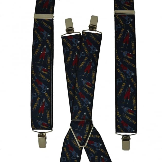 Navy Blue Golf Trouser Braces