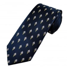 Navy Blue Ice Cream Men's Luxury Silk Tie