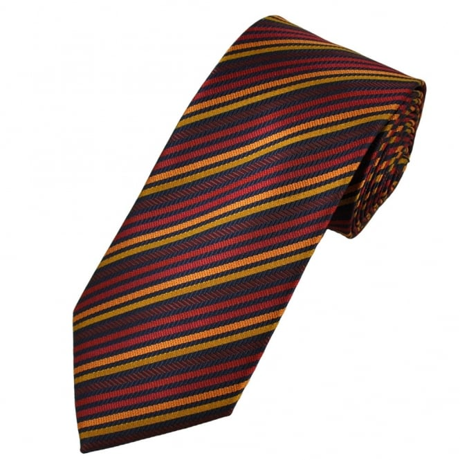 white striped and tie Gold