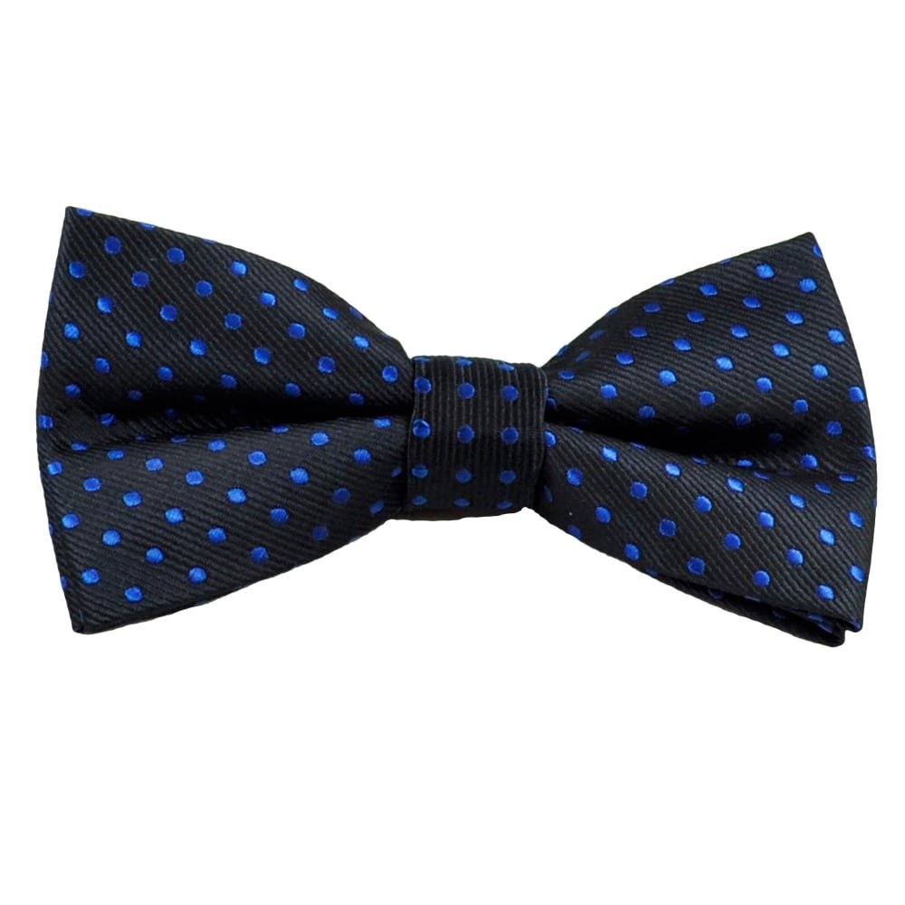new product b842d f15a4 Navy Blue   Royal Blue Polka Dot Men s Bow Tie from Ties Planet UK