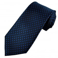 Navy Blue & Royal Blue Polka Dot Men's Tie