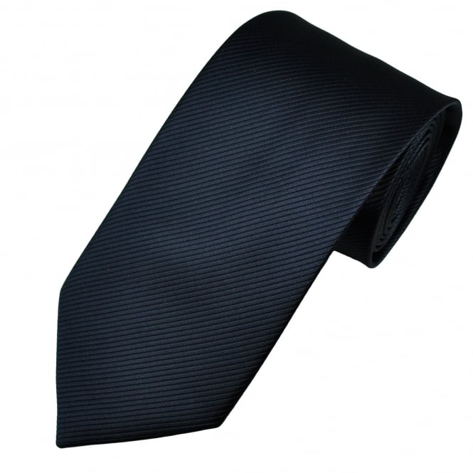 Navy Blue Self Striped Tie