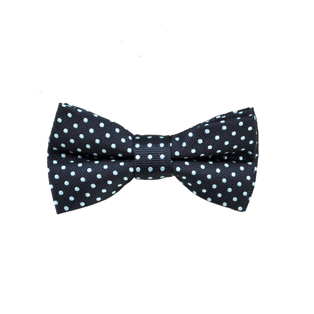 263163733827 Navy Blue & Sky Blue Polka Dot Boys Bow Tie from Ties Planet UK